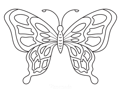 Butterfly Coloring Pages Pattern of Shapes