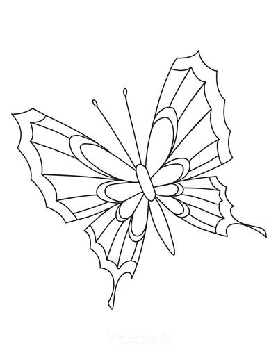 Butterfly Coloring Pages Pattern to Color