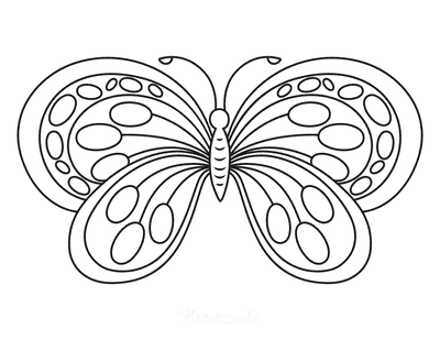 Butterfly Coloring Pages Rounded