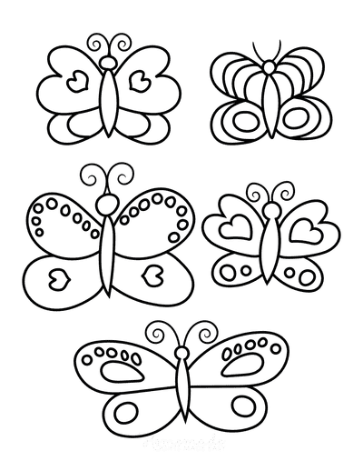Butterfly Coloring Pages Set 5 for Kids