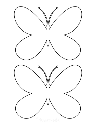 Butterfly Coloring Pages Simple Outline Template 2 Medium