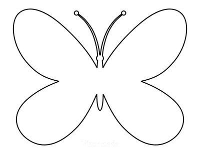 Butterfly Coloring Pages Simple Outline Template