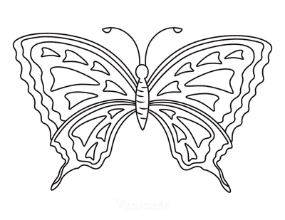 Butterfly Coloring Pages Triangles