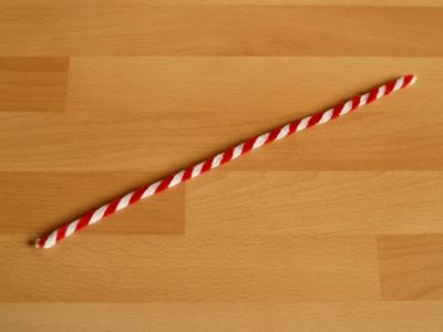 candy cane pipe cleaner ornament step 2b