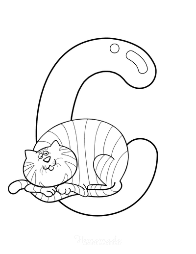 Cat Coloring Pages C Is for Cat