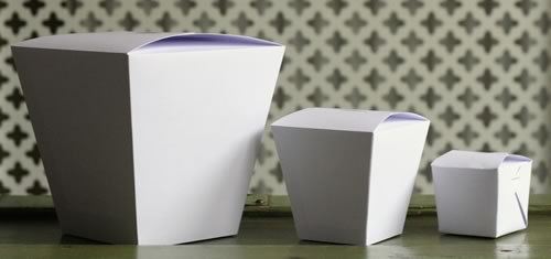 chinese take out gift box three sizes of templates