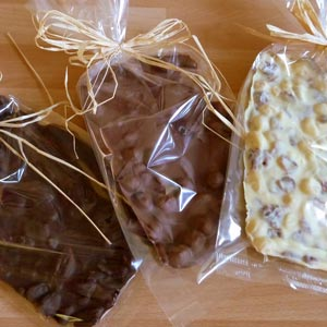 homemade food gifts chocolate bark brittle