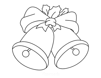 Christmas Coloring Pages Christmas Bells Preschoolers