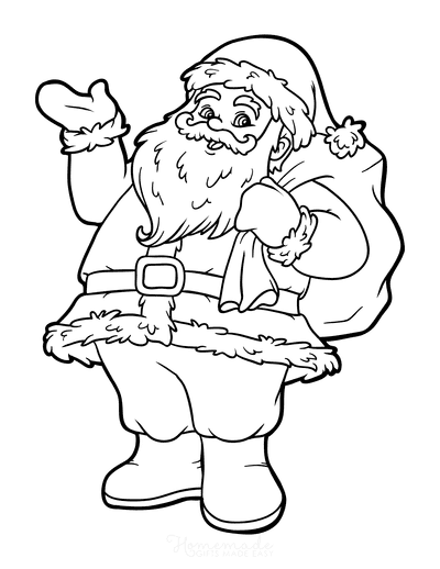 Christmas Coloring Pages Father Christmas Santa Claus