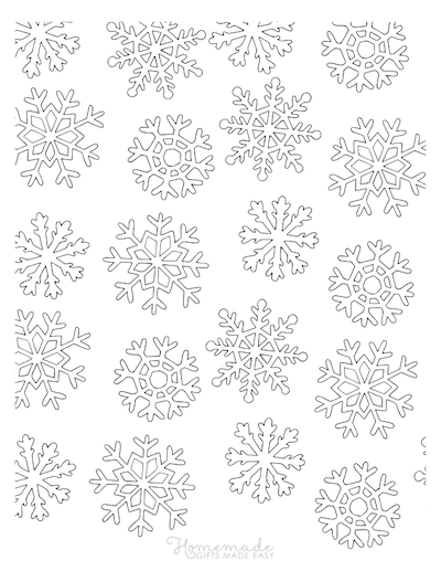 Christmas Coloring Pages for Adults Snowflakes