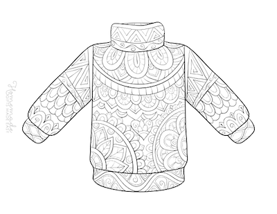 Christmas Coloring Pages for Adults - Winter Jumper
