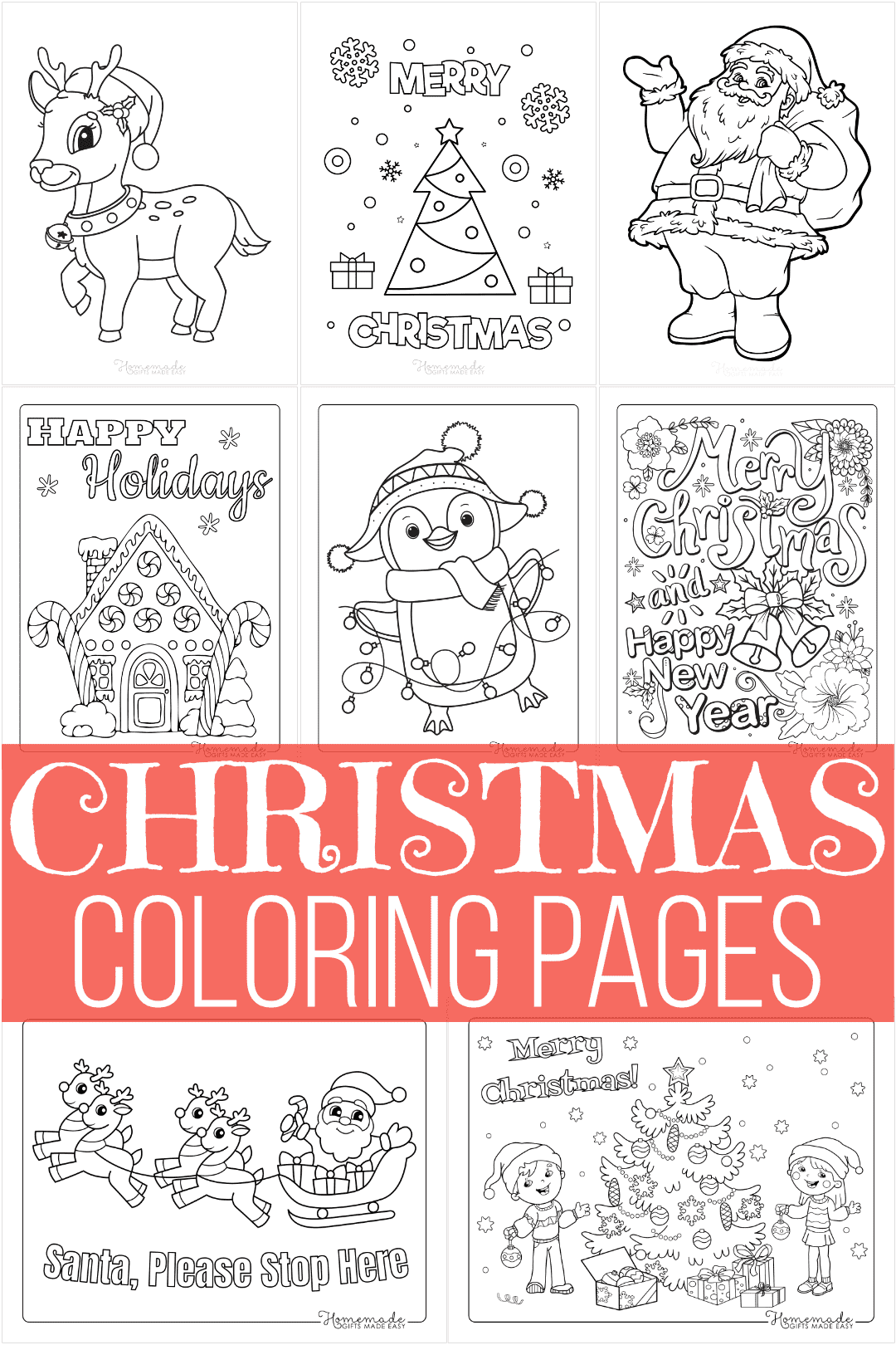 free printable christmas coloring pages - 65+ designs