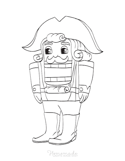 Christmas Coloring Pages Nutcracker Soldier