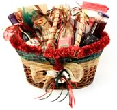homemade Christmas gift basket