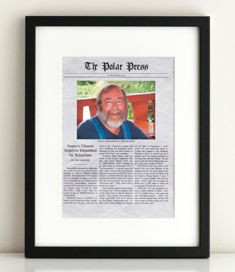 christmas newspaper generator