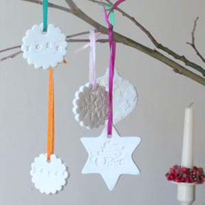 christmas ornament to make clay peace star