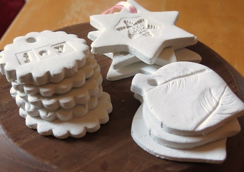 Christmas ornament to make air dry clay for Fast drying paint for crafts
