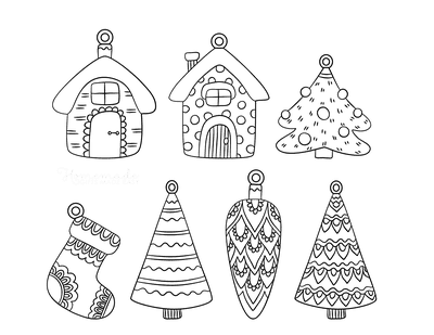 Christmas Ornaments Coloring Pages 7 Cute Patterned Ornament Templates to Color