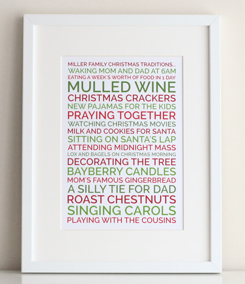 create a personalized poster christmas gift