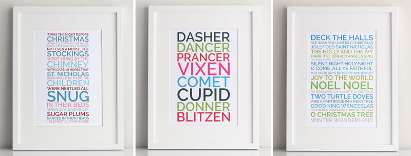 personalized poster christmas gift