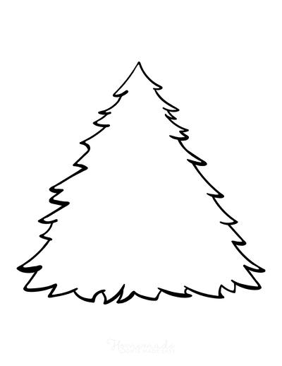 Christmas Tree Coloring Page Blank Tree 2