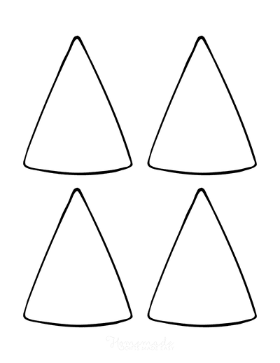 Christmas Tree Coloring Page Blank Tree Small