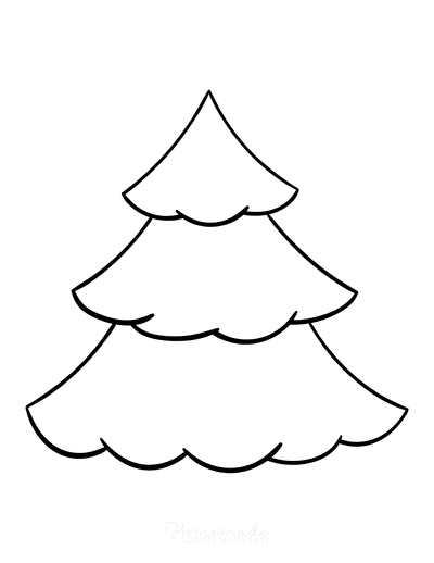 Christmas Tree Coloring Page Blank Tree to Color