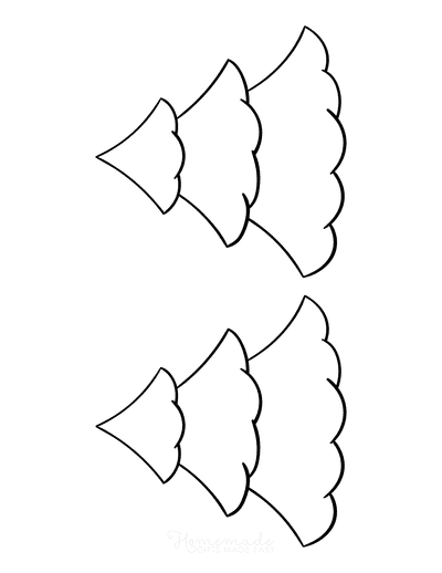 Christmas Tree Coloring Page Blank Tree to Color Medium