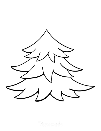 Christmas Tree Coloring Page Blank Tree to Decorate