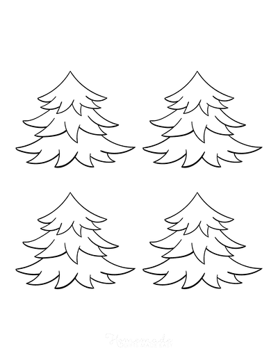 Christmas Tree Coloring Page Blank Tree to Decorate Small