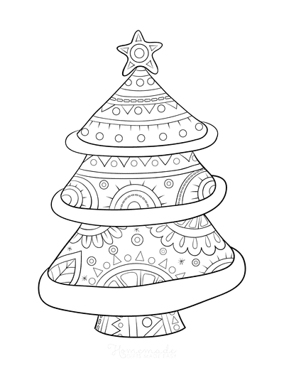 Christmas Tree Coloring Page Decorative Tree to Color