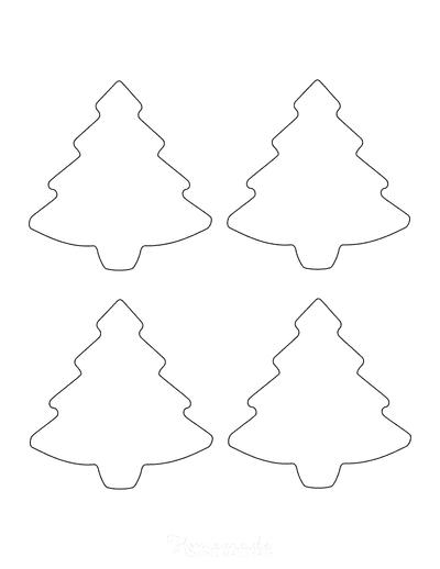 Christmas Tree Template Basic Outline Small