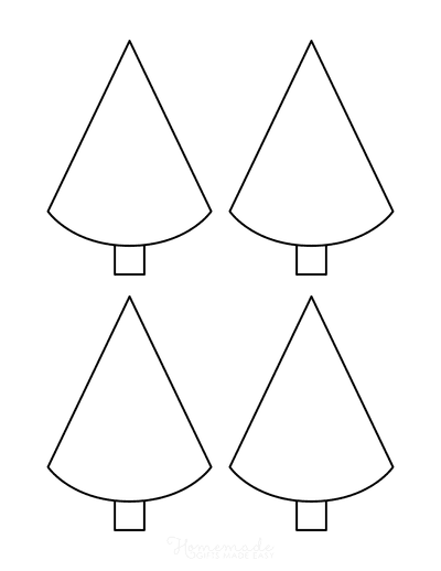 Christmas Tree Template Blank Outline Conical Small