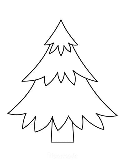 Christmas Tree Template Layered