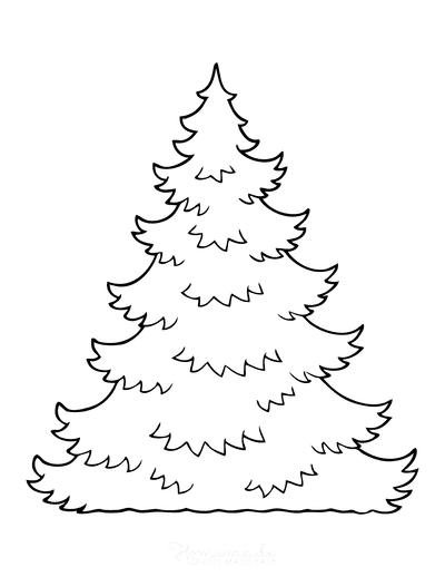 Christmas Tree Template Layered Jagged