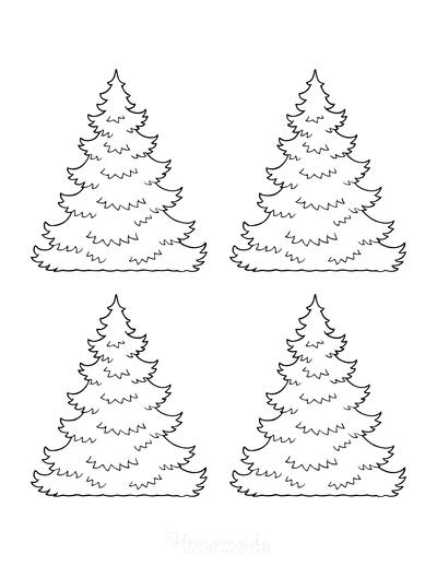 Christmas Tree Template Layered Jagged Small