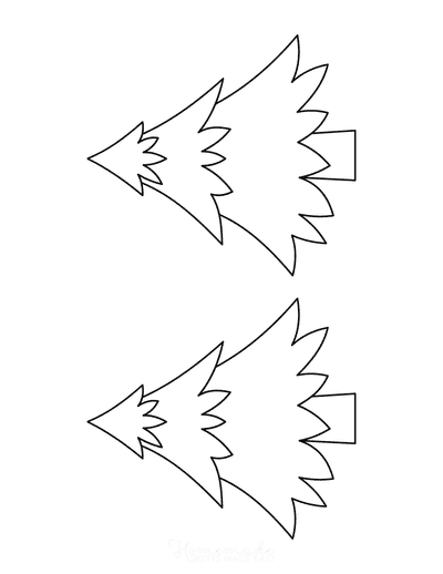 Christmas Tree Template Layered Medium