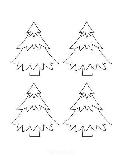 Christmas Tree Template Layered Small