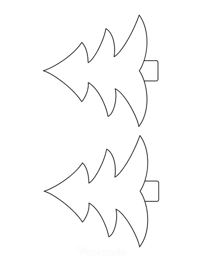 Christmas Tree Template Outline Medium