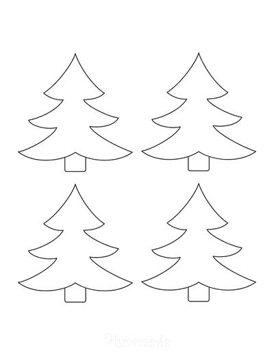 Christmas Tree Template Outline Small