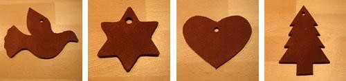 cinnamon dough ornaments dove
