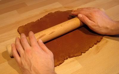 cinnamon dough ornaments rolling