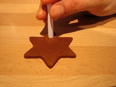 cinnamon dough ornaments punch hole