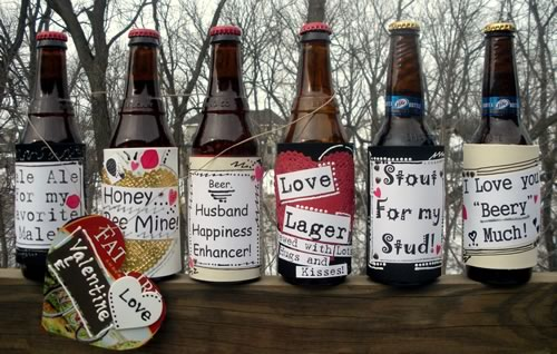 Creative Valentine Ideas Beer Labels
