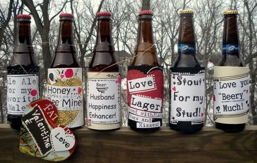 creative valentine ideas beer labels
