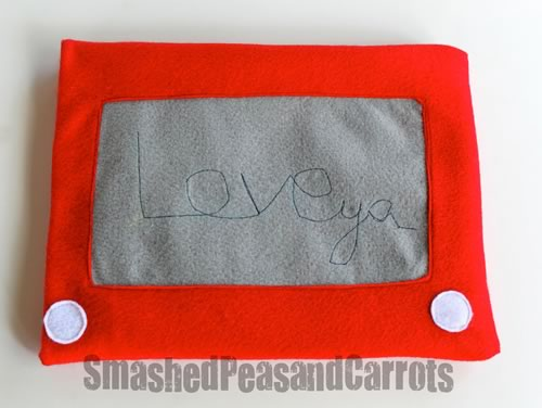 creative valentine ideas etch-a-sketch ipad cozy