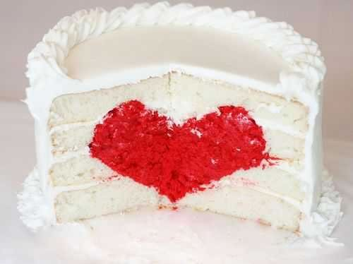 creative valentine ideas surprise heart inside cake