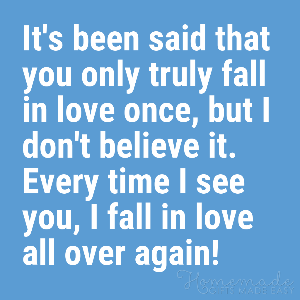 cute boyfriend quotes fall in love over again
