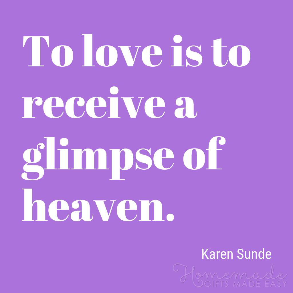 cute boyfriend quotes love is a glimpe of heaven