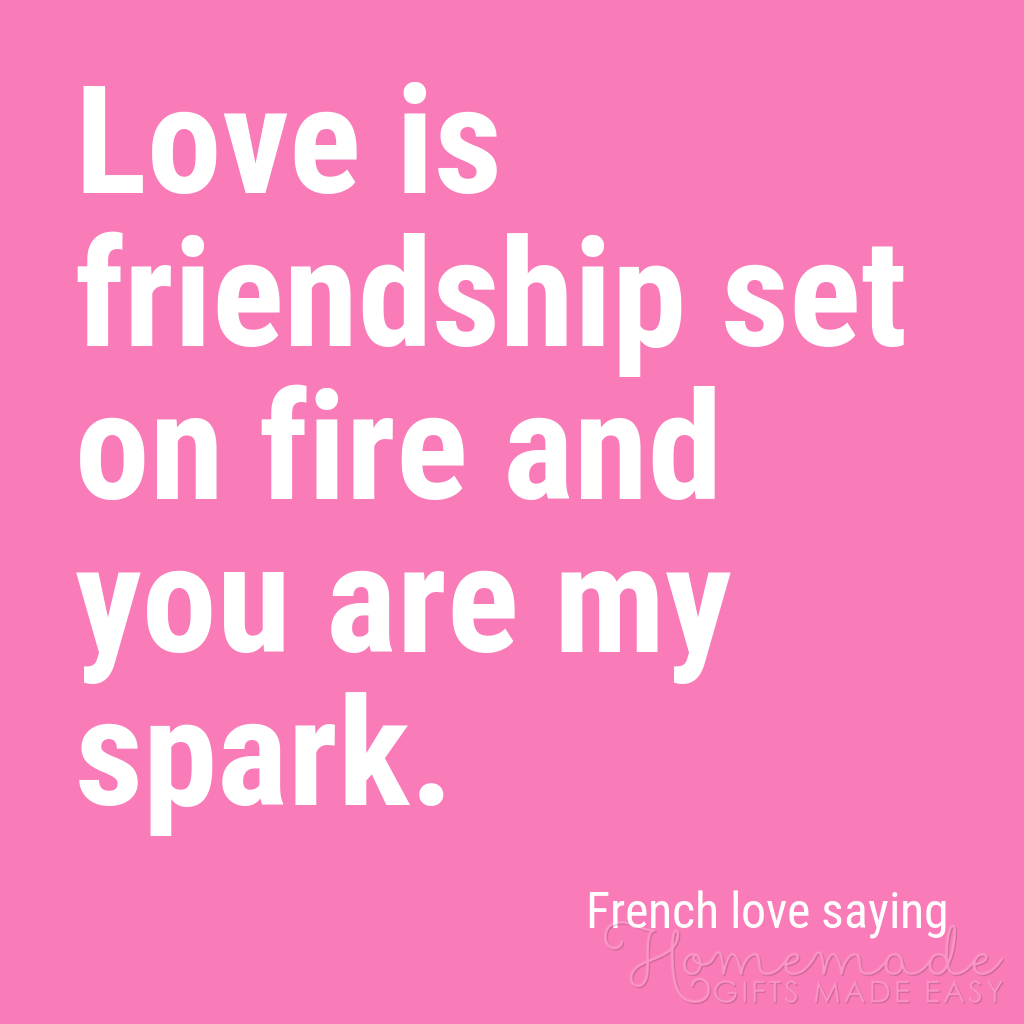 cute boyfriend quotes love is friendship set on fire